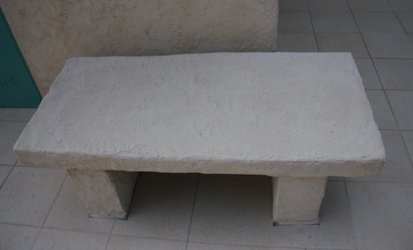 石のベンチ2