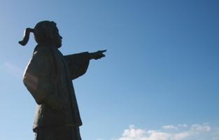 中浦ジュリアンの銅像