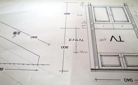 TVボード デザイン画