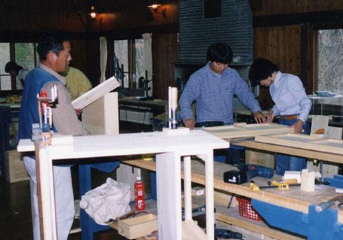 家具作り教室の様子